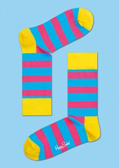 STRIPE: Fun · Expressive · Stylish. Make a statement with fun and fashionable multi color stripe socks. These colorful unisex socks have a bold grooved pattern that gives them depth and adds to their stylish character. Woven from high-quality combed cotton means they'll keep feet warm even on the chilliest of evenings. COMPOSITION 80% Combed Cotton, 17% Polyamide, 3% Elastane. www.HappySocks.com