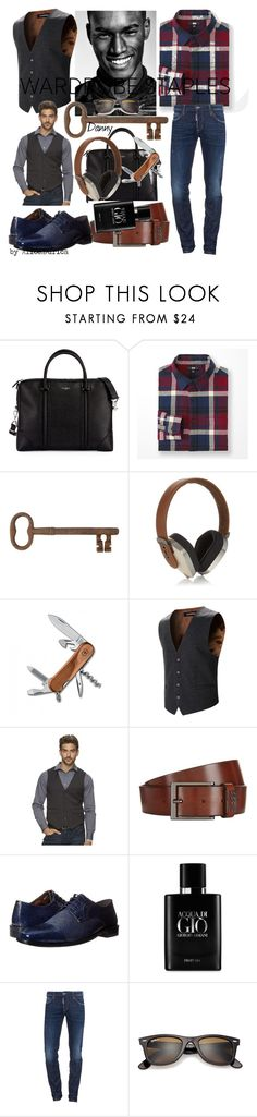 """Danny"" by alice-durica on Polyvore featuring Givenchy, Uniqlo, Jayson Home, Pryma, Victorinox Swiss Army, Marc Anthony, BOSS Hugo Boss, Stacy Adams, Giorgio Armani and Dsquared2"