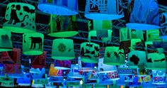 glow eindhoven - Google zoeken - maybe paper foldables or silhouette-stenciled paper cubes with glow sticks inside?
