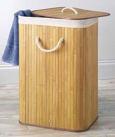 Whitmor Rectangular Bamboo Laundry Hamper with Liner and Rope Handles, Natural Small Laundry Rooms, Laundry Room Storage, Laundry Hamper, Laundry Basket With Lid, Laundry Supplies, Organizing Your Home, Outdoor Furniture, Outdoor Decor, Home Decor