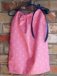 Pink Anchor Pillowcase Dress Size 6 months 12 by LMMboutique, $15.00