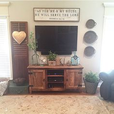"Our ""As for me and my house"" sign looks perfectly at home in your beautiful home @ourvintagenest"