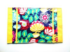 Travel Portfolio 5 pocket Bright and Fun Floral by keepeweclean, $20.00