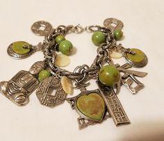 Vintage Asian Silver Tone Charm Bracelet w/ Assorted Asian Charms    eBay
