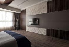 Minimalistic Taiwanese Loft by Oliver Interior Design tv set bedroom interior