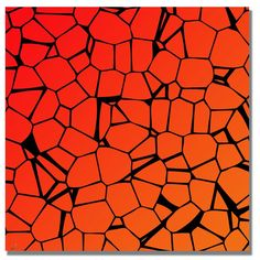 'Crystals of Reds and Orange' Painting Print on Canvas