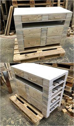 pallet-side-table-with-drawers