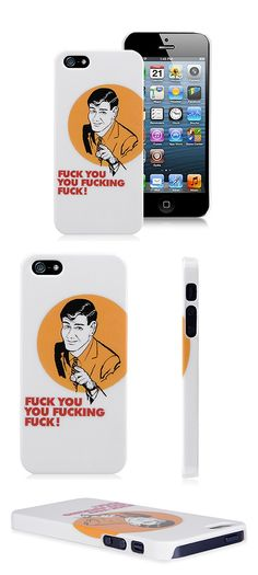 Fuck you iPhone 5 Case Man Protective Cover Case for iPhone 5 5S 5C #iphone5 #fuckyou #protective #cover #case $4.54