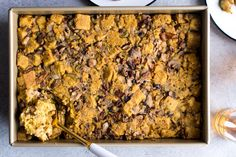 Recipe: Gluten-Free Cornbread and Mushroom Stuffing — Recipes from The Kitchn Vegetarian Stuffing, Vegetarian Side Dishes, Vegetarian Thanksgiving, Stuffing Recipes, Thanksgiving Side Dishes, Thanksgiving Recipes, Holiday Recipes, Cornbread Stuffing, Holiday Meals