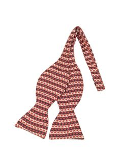 Forzieri Optical Print Silk Self-tie Bow Tie