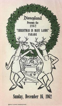 Disneyland Christmas Parade Flyer, 1962