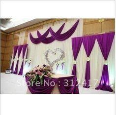 #wedding #decor #silver #white #magenta #purple #violet