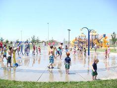 summer water park play