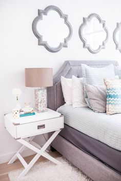 bedside tables decor - Google Search