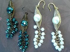 Summary: I always adore the delicate and unique jewelry and this #DIY beaded earrings made with pearls is just the right type. A larger pearls wrapped by wire linked with several smaller pearls make up a pair of earrings. It is definitely worthwhile to lea