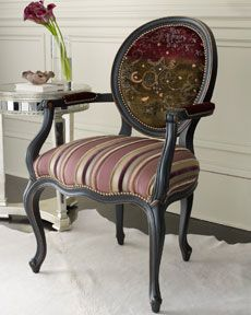 horchow.com OLD HICKORY TANNERY PURPLE STRIPE CHAIR  1999.00