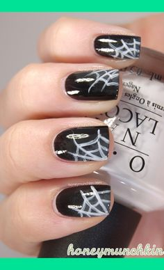 Looking for some spooky and fun nail art ideas for Halloween  We re  bringing you 30 amazing Halloween nail art ideas that are easy to do and  fun to wear 13f11e1931292