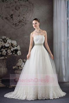 Luxury Crystals Beaded Capped Sleeves Wedding Dresses Crew Neck Tulle Ball Gown Lace Appliqued Wedding Bridal Gowns Custom Made Wedding Dress 2013, Princess Wedding Dresses, Perfect Wedding Dress, Cheap Wedding Dress, Bridal Dresses, Wedding Gowns, Lace Wedding, Church Wedding, Summer Wedding