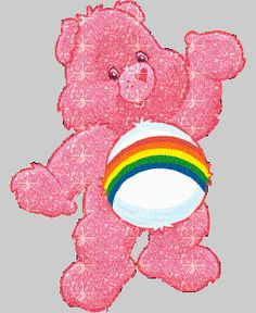 transparent rainbow sparkly care bears care bear