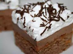 Anjelský zákusok s čokoládovým likérom • Recept   svetvomne.sk Healthy Freezer Meals, Czech Recipes, Limoncello, Chocolate Truffles, Pavlova, Four, Tray Bakes, Bakery, Dessert Recipes