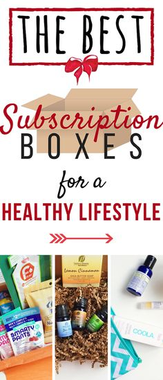 These subscription boxes make getting and staying healthy easy. Whether it's healthy snacks, workout gear, yoga essentials, or all-natural beauty necessities: these are the best subscription boxes for a healthy lifestyle. Boxes geared towards paleo eaters, natural beauties, CrossFit, healthy snacks, and more!