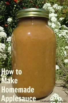 How to make and can homemade applesauce.