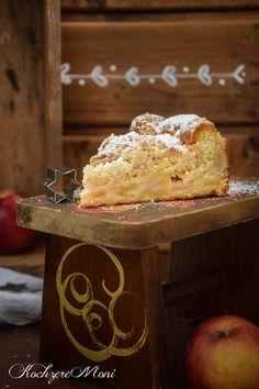 Apfel Mandel Kuchen mit Lebkuchenstreuseln - Adventskaffee