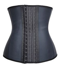 Camellias Women's 3 Hooks Latex Sports Workout Waist Trainer for Weight Loss is a faja style waist cincher and waist. Latex Waist Trainer, Waist Trainer Corset, Tummy Tucker, Waist Cincher Corset, Women's Shapewear, Waist Training, Sports Women, Trainers, Weight Loss