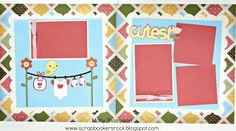 Scrapbookers rock: Baby Layouts CTMH and Cricut