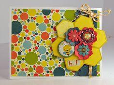 """Hi"" card with Hello Sunshine @Sarah Eclavea #bobunny"