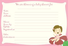 Get these free printable baby shower templates if mom to be is having a baby girl. And just in case she's having a boy, we also have invitation templates for boys and they're just a few clicks away
