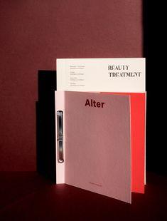 Alter Identity on Behance Menu Design, Book Design, Branding Design, Print Design, Layout Design, Layout Inspiration, Graphic Design Inspiration, Magazine Design, Graphic Design Typography