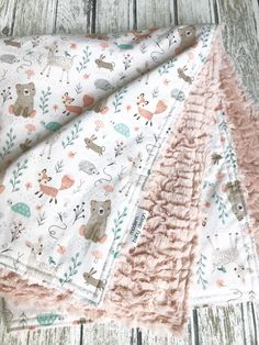 Your place to buy and sell all things handmade Excited to share this item from my shop: Woodland Minky Baby Blanket, Forest Baby Blanket, Gender Neutral Faux Fur Baby Blanket, Dusty Rose Faux Fur blanket Purl Bee, Baby Design, Blog Bebe, Minky Baby Blanket, Baby Girl Blankets, Quilted Baby Blanket, Flannel Baby Blankets, Blankets For Babies, Easy Baby Blanket