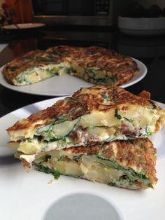 Parsnip, Spinach & Kale Spanish Tortilla