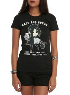Black Butler Cats Are Great Girls T-Shirt