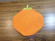 Pumpkin Shaped Dishcloth/Washcloth in Cotton Yarn - Pumpkin Dishcloth - Pumpkin Washcloth - Fall, Autumn, Harvest Time…
