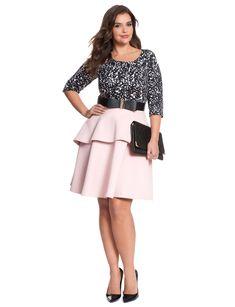 Studio Mix Tiered Dress | Women's Plus Size Dresses | ELOQUII