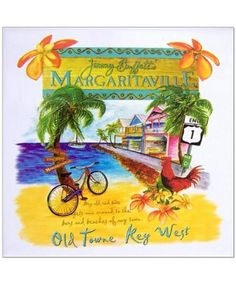Red Bike Trivet. Margaritaville. Key West.