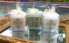 Candles and home decor go hand in hand. Fragrance & Flare Left - Silver Cross, Middle - Silver Cross, Right - Medium Crystal Cross www.facebook.com/SCCandles