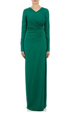 LANVIN Asymmetric-Gathered Gown. #lanvin #cloth #gown
