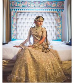 60 ideas for sabyasachi bridal wear gold Golden Bridal Lehenga, Sabyasachi Lehenga Bridal, Wedding Lehnga, Indian Bridal Lehenga, Wedding Bride, Gothic Wedding, Wedding Wear, Wedding Bells, Brocade Lehenga