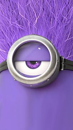 Purple Minion eye。◕‿◕。 See my Despicable Me Minions pins https://www.pinterest.com/search/my_pins/?q=minions