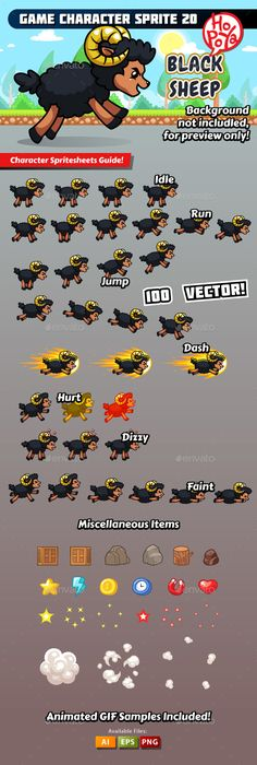 Game Character Sprite 20 — Vector EPS #android #design • Available here → https://graphicriver.net/item/game-character-sprite-20/19364421?ref=pxcr