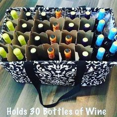 Deluxe Utility Tote holds 30 bottles of wine? 😉 Thirty one gif… Deluxe Utility Tote holds 30 bottles of wine? 😉 Thirty one gifts Thirty One Games, Thirty One Fall, Thirty One Party, Thirty One Facebook, Thirty One Organization, Organization Ideas, Storage Ideas, 31 Party, Large Utility Tote