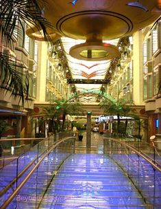 Independence of the Seas. Make your vacation a little more colorful – the bridge in the Royal Promenade lights up all the colors of the rainbow.