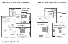 Floor plan of the upper floor in buffy summer 39 s home circa for 12 grimmauld place floor plan