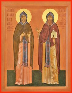 Sts. Alexander Nevsky and Daniel of Moscow Russian Orthodox icon