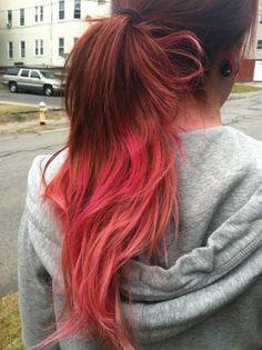 Cherry Bomb - hair colour with attitude Magenta Hair, Bright Red Hair, Magic Hair, Alternative Hair, Crazy Hair, About Hair, Girl Pictures, Dyed Hair, Cool Hairstyles