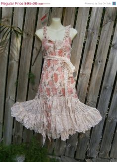 20 OFF vintage inspired floral lace dress with ruffles by wildskin, $76.00