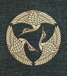 The Grand Illusion - The Grand Illusion ((vía Mizuhiki Family Crest Image Sanha Tsurumon Japanese Patterns, Japanese Design, Japanese Art, Tattoo Japanese, 1 Tattoo, Tatoo Art, Art And Illustration, Motif Art Deco, Art Asiatique